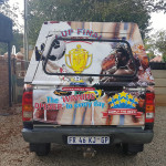Cup Final back of bakkie