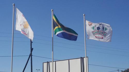 Flags at Bela Bela Depot - 16 October 2017