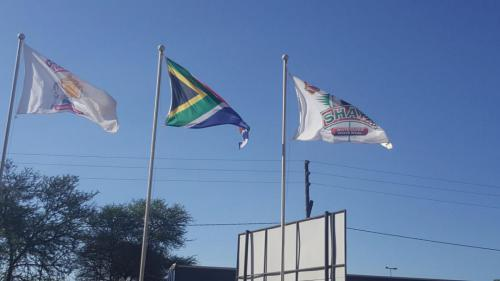 Flags at Bela Bela Depot - 16 October 2017