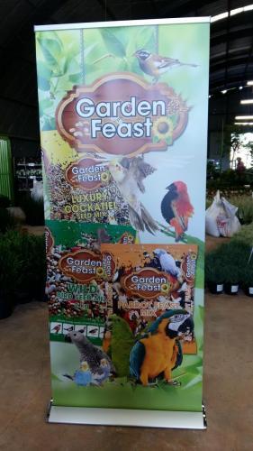 Garden Feast Pull-up banner