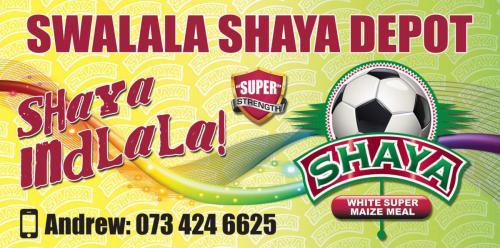 Swalala Shaya Shop signage, Nelspruit